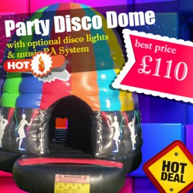 Party Disco Dome feat. Music PA and Disco-Style Lights 18ft X 18ft