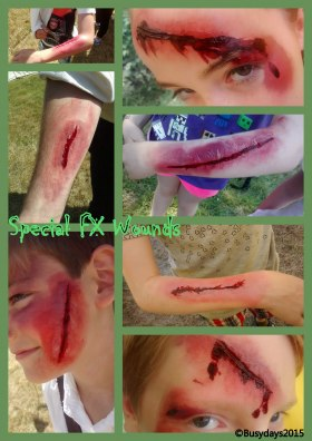 SFX wounds face painting