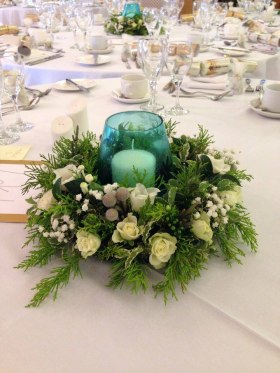 Wintery Table Centre