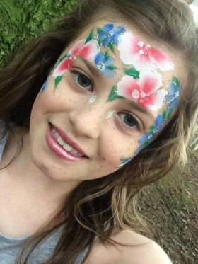 JuliaArts woodland face painting