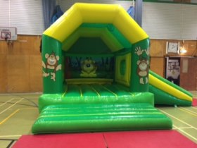 The Bounce Department Zoo Bouncy Castle and Slide available to hire