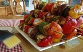 Delicious vegetable kebabs too