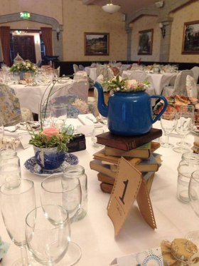 Tea Pot and Books Table Centre