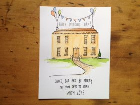 Bespoke and Hand drawn Wedding Venue Illustration