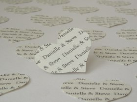 Personalised Heart Table Confetti