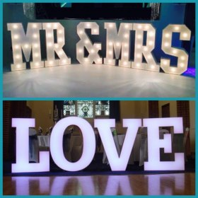 Giant LED Letters to hire