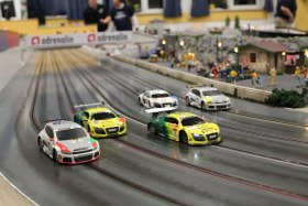 Hire the Giant Scalextric Race Track and up to four people can compete for that number 1 spot
