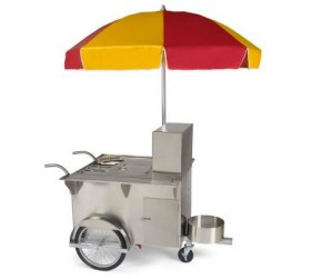All American hot dog cart stand straight from New York!
