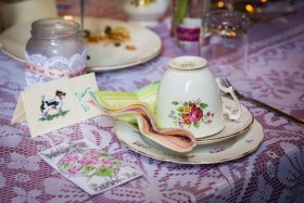 Selection of vintage china for hire