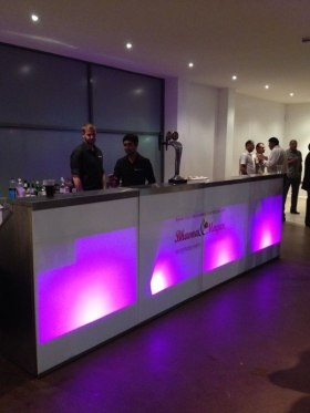Bars can be illuminated to suit any theme or colour desired