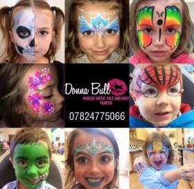 Face painting Donna Bull Makeup artist