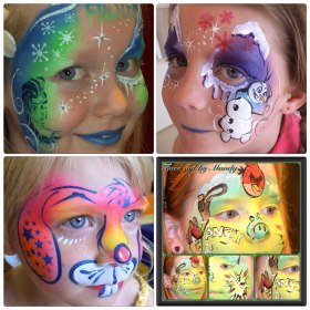 Powwow Face Painting girls designs