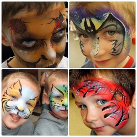 Powwow Face Painting boys designs