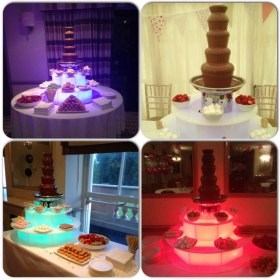 Five tier chocolate fountains