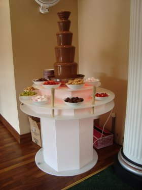 Stunning chocolate fountain