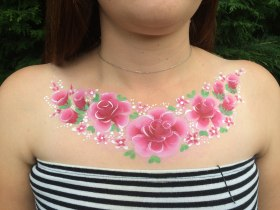 Rose Body Painting