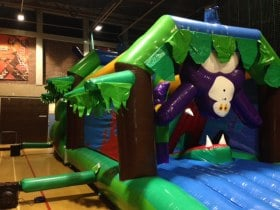 The Bounce Department Inflatable Jungle Obstacle Course available to hire