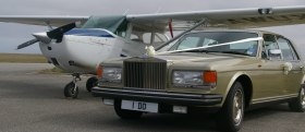 Celebration Rolls Royce with a Cessna 172