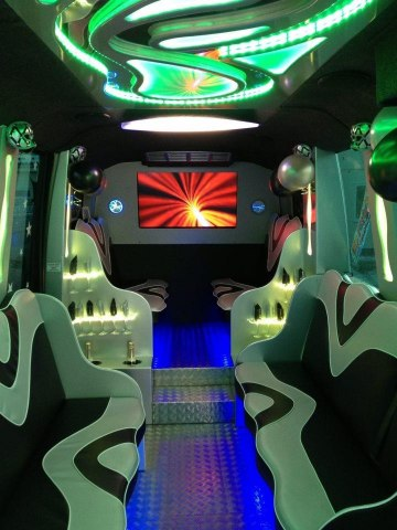 Party Bus lit up.