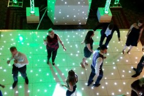 White Star Lit Dance Floor Hire