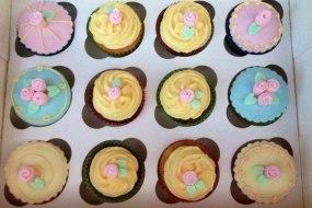 Cath Kidston inspired cupcakes, pastel rose