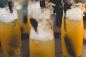 Smoking cocktails created by BlackLeaf Events