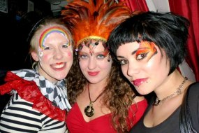 JuliaArts Adult circus Face Painting Near Sheffield