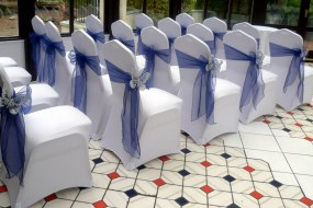 Chair covers with sashes for hire