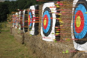 Archery targets with Robin Hood Events