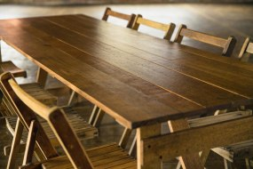 Our oak trestle tables