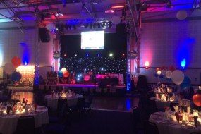 Rigging, truss ground support, lighting and PA for a Chamber of Commerce awards evening