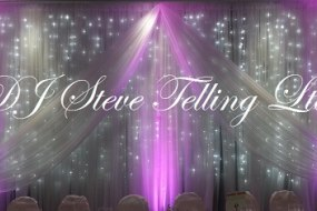 Star Lit Backdrop for wedding Top Table
