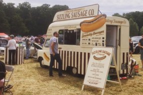 Vintage sausage van for hire in Kent, London, Surrey, Sussex, Essex, Berkshire and Hampshire