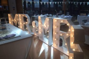 light up letters mr and mrs  & love