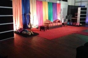 Asian wedding audio and stage setup