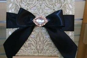 Glitter Lasercut wedding invitaiton