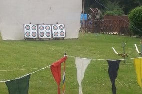 Typical archery set up - suitable for 8 - 80 - instructors can dress Medieval