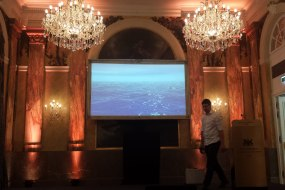 Projection screen at Imperial Hotel Vienna for medical event