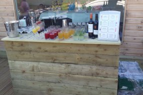 Rustic Wooden Bar Hire