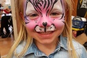 pink cat, face paint, bingley, bradford