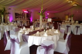 Chair covers, Table runners and centre pieces