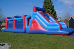 48ft inflatable assault course suitable for adults