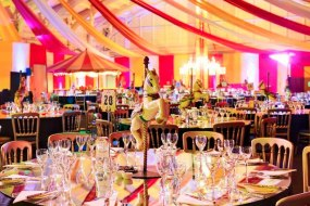 Venue decor and transformation - circus theme for corporate event