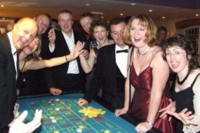 Roulette players having fun.
