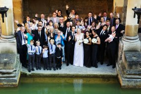 Fun Group Shot at Roman Baths