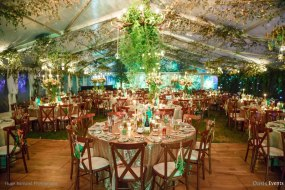 Luxury 21st birthday party in marquees in Cotswolds - dinner, dancing for 250