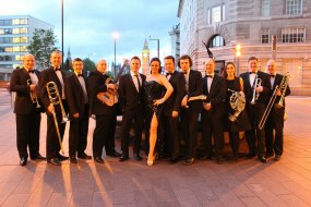 The band on a corporate event in Central London