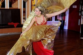 Belly dancer - solo with Isis wings