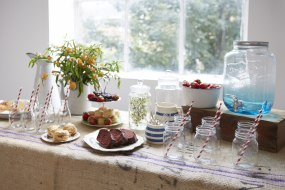 Drink dispenser, jam jars, drink station hire
