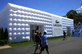 Lacoste bespoke branded inflatable cube